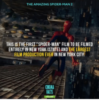 """What's your favorite movie about Spidey? — Tag your friends and follow @cinfacts — peterparker marvelmovies marvel marvelcomics comicbooks comics cinema_facts movies sonypictures amazingspiderman amazing jumping marveluniverse films spiderman andrewgarfield newyork city building newyorkcity: THE AMAZING SPIDER-MAN 2  THIS IS THE FIRST """"SPIDER-MAN"""" FILM TO BE FILMED  ENTIRELY IN NEW YORK [STATEl AND  THE LARGEST  FILM PRODUCTION EVER  IN NEW YORK CITY  CINEMA  FACTS What's your favorite movie about Spidey? — Tag your friends and follow @cinfacts — peterparker marvelmovies marvel marvelcomics comicbooks comics cinema_facts movies sonypictures amazingspiderman amazing jumping marveluniverse films spiderman andrewgarfield newyork city building newyorkcity"""