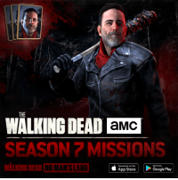 Dank, The Walking Dead, and App Store: THE  aMC  WALKING DEAD SEASON MISSIONS  é Download on the  GETITON  Play  App Store Do you miss #TWD already? Relive the Season 7 highlights so far in The Walking Dead: No Man's Land: http://getnomansland.com