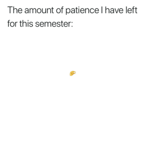 Memes, Music, and Best: The amount of patience l have left  for this semester: @musiclifegram posts the funniest and best music memes 😂