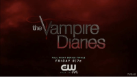 """[8x16 Series Finale Promo] — last tvd promo ever 😭 i'm crying it's been 8 amazing years :') and klaus is in the promo omg i'm gonna be drowning in my tears also here's how next week is going down: March 10th, 2017 8pm EST - TVD: Forever Yours (the special) 9pm EST - TVD SERIES FINALE There will be a one hour special feature airing before the series finale! ——— [The Vampire Diaries: Forever Yours]: 8-9pm EST """"After eight amazing seasons, The Vampire Diaries is coming to a dramatic and epic end. This one-hour retrospective features interviews with past and present cast members and guest stars, a conversation with the executive producers Julie Plec and Kevin Williamson, behind-the-scenes footage from the final season and special moments from the past eight years."""" ⠀ [8x16: I Was Feeling Epic]: 9-10pm EST """"With the fate of Mystic Falls at stake, Stefan and Damon must fight their greatest enemy for one last battle."""" ⠀ HOPE Y'ALL ARE READY!!! 😭 TVDForever: the  ample  Danes  FULL NIGHT SERIES FINALE  FRI DAY 8 17 c  THE  TEHY  DARE TO  TVD.IG [8x16 Series Finale Promo] — last tvd promo ever 😭 i'm crying it's been 8 amazing years :') and klaus is in the promo omg i'm gonna be drowning in my tears also here's how next week is going down: March 10th, 2017 8pm EST - TVD: Forever Yours (the special) 9pm EST - TVD SERIES FINALE There will be a one hour special feature airing before the series finale! ——— [The Vampire Diaries: Forever Yours]: 8-9pm EST """"After eight amazing seasons, The Vampire Diaries is coming to a dramatic and epic end. This one-hour retrospective features interviews with past and present cast members and guest stars, a conversation with the executive producers Julie Plec and Kevin Williamson, behind-the-scenes footage from the final season and special moments from the past eight years."""" ⠀ [8x16: I Was Feeling Epic]: 9-10pm EST """"With the fate of Mystic Falls at stake, Stefan and Damon must fight their greatest enemy for one last battle."""" ⠀ HOPE Y'ALL ARE READY"""