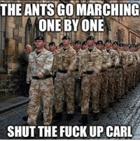 Shut the Fuck Up: THE ANTS GO MARCHING  ONE BY ONE  SHUT THE FUCK UP CARL