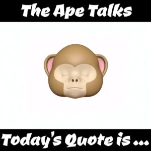 """Advice, Tumblr, and Blog: The Ape Talks  Today's Quote is ... theapetalks: Welcome to The Ape Talks, Today's Quote is … """"I wish I had the ability to listen to my own advice"""" Website:https://www.TheApeTalks.com Mr. Ape signing off"""