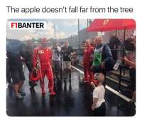 Apple, Fall, and Meme: The apple doesn't fall far from the tree  F1BANTER Kimi Raikkonen's son eating ice cream in wet weather? Amazing 😂 ————————————————————— ChamF1B F1 F1B F1Banter F1BanterGod Formula1 F12018 TeamF1B Formula1Banter MSB MotorsportBanter banter f1meme f1racing meme joke memes f1jokes FormulaOne racing motorsport racingjokes F1Humor racingmemes racingbanter GP GrandPrix GPRacing bwoah YeahTheMaldonado