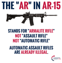 "Memes, Ar 15, and 🤖: THE ""AR"" IN AR-15  STANDS FOR ""ARMALITE RIFLE  NOT ""ASSAULT RIFLE""  NOT ""AUTOMATIC RIFLE""  AUTOMATIC ASSAULT RIFLES  ARE ALREADY ILLEGAL.  TURNING  POINT USA Why Can't Leftists Understand This?? 🤦‍♀️🤦‍♀️🤦‍♀️"