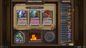 new hearthstone keywords: The Arena  Arena Deck  1 Blazing Battlemage  1 Bloodsail Flybooter  Choose a Card  2. Amani Berserker  2 Betrayal  4  2 Defias Ringleader  2 Eviscerate  2. Murloc Tidehunter  2. Pint-Sized Summoner  Necrium Apothecary  Defias Ringleader  Dread Corsair  3 Blackwing Technician  3 Fan of Knives  Draw a  Summon a 2/1  Defias Bandit.  Costs (1) less per Attack  of your weapon.  minion from your deck and  gain its  3 Fire Hawk  2.  2)  3 Ironfur Grizzly  Pirate  3 Living Dragonbreath  3. Tauren Warrior  3. Violet Illusionist  4. Maiden of the Lake  4 Regeneratin' Thug  Troll Batrider  4  Walk the Plank  5 Shado-Pan Rider  6 Boulderfist Ogre  o 1 2 3  5 6 7+  7 Sprint  23/30  Back  Cards  1995  8:32 AM new hearthstone keywords