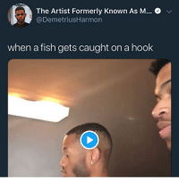 Dumb, Funny, and Goals: The Artist Formerly Known As M...  @DemetriusHarmon  when a fish gets caught on a hook These niggas dumb 💀 • ➫➫➫ Follow @Staggering for more funny posts daily! • (Ignore: memes like4like funny music love comedy me goals)