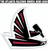 Atlanta Falcons unveil NEW logo after being down 31-13 to the Buccaneers.  #Falcons Nation #Buccaneers Nation: THE ATLANTA FALCONSUNVEILNEW LOGO  ONFLMEMEL Atlanta Falcons unveil NEW logo after being down 31-13 to the Buccaneers.  #Falcons Nation #Buccaneers Nation
