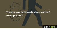 Life-changing facts.: The average fart travels at a speed of 7  miles per hour.  uber  facts Life-changing facts.