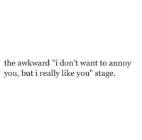 "Awkward, You, and Really: the awkward ""i don't want to annoy  you, but i really like you"" stage."