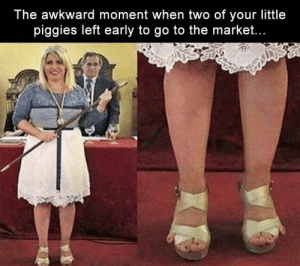 Funny, Memes, and Awkward: The awkward moment when two of your little  piggies left early to go to the market... Funny Memes Of The Day 28 Pics