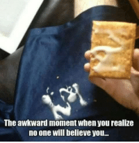 No One Will Believe You: The awkward moment when you realize  no one will believe you...