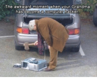 Funny, Grandma, and Lol: The awkward moment when your Grandma  has become a computer hacker 10 Funny Pictures Of Today - #funnymemes #funnypictures #humor #funnytexts #funnyquotes #funnyanimals #funny #lol #haha #memes