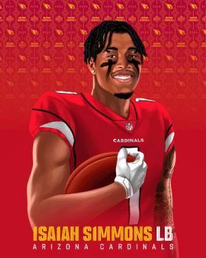 The @AZCardinals land @ClemsonFB LB @isaiahsimmons25! #NFLDraft https://t.co/ohNKwVVokV: The @AZCardinals land @ClemsonFB LB @isaiahsimmons25! #NFLDraft https://t.co/ohNKwVVokV