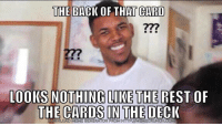 "<p>When your retarded friend thinks he is being slick playing a Yu-gi-oh card during your poker game. via /r/memes <a href=""http://ift.tt/2t6E3lw"">http://ift.tt/2t6E3lw</a></p>: THE BACK OF THAT CARD  277  00KS NOTHING LIKE THE REST OF  THE CARDS IN THE DECK  DOWNLOAD MEME GENERATOR FROM HTTPIMEMECRUNCHCOM <p>When your retarded friend thinks he is being slick playing a Yu-gi-oh card during your poker game. via /r/memes <a href=""http://ift.tt/2t6E3lw"">http://ift.tt/2t6E3lw</a></p>"