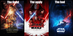 When JJ Makes the best & worst of the Sequels: The bad  The uggly  The Good  STAR  WARS  THE LASTJED  STAR  o  STAR  WARS  THE FORCE AWAKENS  THE RISE OF SKYWALKER  WARS  DECEMBER 20 When JJ Makes the best & worst of the Sequels