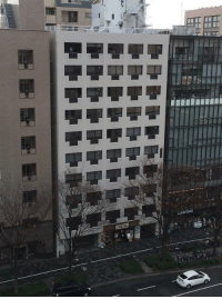 The balconies on this building look like Ethernet ports: The balconies on this building look like Ethernet ports