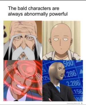 Where's Calliou Bitch: The bald characters are  always abnormally powerful  560  .286  2.286  .156  12%  Powered by Memes ios Where's Calliou Bitch