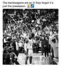 Chill, Lit, and Nba: The bandwagons are so lit they forgot it's  just the preseason.  @NBAMEMES They need to chill. 😂