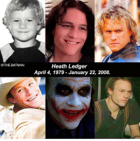 A legend ❤️ heathledger creepy scary horror joker heathledger ripheathledger: @THE.BATMAN  Heath Ledger  April 4, 1979 - January 22, 2008. A legend ❤️ heathledger creepy scary horror joker heathledger ripheathledger