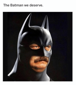 the batman: The Batman we deserve.