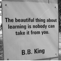 Beautiful, Instagram, and Life: The beautiful thing about  learning is nobody carn  take it from you.  B.B. King The most intriguing thing about the human mind🤓 is that we are taught things in the lessons last a lifetime. The beautiful thing about learning is that nobody can take it from you. Everyday we need to learn something new that's going to improve our business or life and our mindset. The question becomes today did you pick up a book to learn new ideas or did you listen to an audio from a mentor or a coach. It only takes one good idea to have a very successful day monetary or a win on the board. Make today the best that you can. Like this post comment or like share with a friend who needs this today. For more great content follow @vasrue2 All copyrights reserved for respective copyright holders. I am sharing this post from another Instagram account holder Credits: @motivationmafia