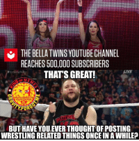 If you read that in Owens' voice, you're amazing. kevinowens wrestling prowrestling professionalwrestling meme wrestlingmemes wwememes wwe nxt raw mondaynightraw sdlive smackdownlive tna impactwrestling totalnonstopaction impactonpop boundforglory bfg xdivision njpw newjapanprowrestling roh ringofhonor luchaunderground pwg: THE BELLA TWINS YOUTUBECHANNEL  REACHES 500,000 SUBSCRIBERS  THATS GREAT!  LIVE  Extreme Rules  GRAUiTM FORGOT mE  On inSTAGRAm  FORG  BUT HAVE YOU,EVER THOUGHT OF POSTING  WRESTLING RELATED THINGS ONCE IN AWHILE? If you read that in Owens' voice, you're amazing. kevinowens wrestling prowrestling professionalwrestling meme wrestlingmemes wwememes wwe nxt raw mondaynightraw sdlive smackdownlive tna impactwrestling totalnonstopaction impactonpop boundforglory bfg xdivision njpw newjapanprowrestling roh ringofhonor luchaunderground pwg