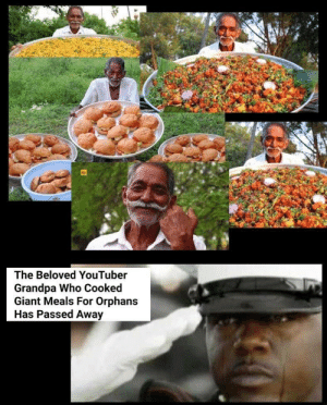 He was a good man: The Beloved YouTuber  Grandpa Who Cooked  Giant Meals For Orphans  Has Passed Away He was a good man