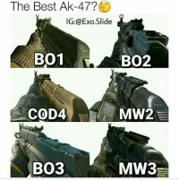 Comment it below🔥 mines is bo2 by far 🗿Become a final by following. STAY ACTIVE STAY ACTIVE STAY ACTIVE and follow🔥 😘 follow,like,comment, and subscribe😘 😛I try to post everyday for y'all😊 🌌Credit- exp 🔊 Song - 👑Skype - Final SomowX 🔫Facebook-Ahmed Somow 😈Follower of the week- 📹YouTube- Final Somow 📝kik- Final_Somow 😨What's that map difficulty- 🔍 Can u find difficulty - 😊What the game - 👥Tag a friend 🔫🔫🔫🔫🔫🔫🔫🔫🔫🔫🔫 Partners 😏 @memesarekoolio @ae.mrwhiterice @best.games.memes Follow my Partners 👆 💙💙💙💙💙💙💙💙 Friends🌟 @younq_omar7 @master_gamer90 〰〰〰〰〰〰〰〰〰〰〰 Smash that like bottom for more💥 Don't hate😈 〰〰〰〰〰〰〰〰〰〰 〰 Current console 🎮 Xbox 360 GT- Excu5MyLag 🎮 Xbox One - Final Somow 〰〰〰〰〰〰〰〰〰〰〰 👎Ignore hash tags callofduty star tryhard battlefield wow let'sgo war guns marvel nerdlife gamergirl Xboxone PlayStation apple YouTube money: The Best AK-47?  IG: @Exo. Slide  BO1  BO2  COD4  MW2  BO3  MW3 Comment it below🔥 mines is bo2 by far 🗿Become a final by following. STAY ACTIVE STAY ACTIVE STAY ACTIVE and follow🔥 😘 follow,like,comment, and subscribe😘 😛I try to post everyday for y'all😊 🌌Credit- exp 🔊 Song - 👑Skype - Final SomowX 🔫Facebook-Ahmed Somow 😈Follower of the week- 📹YouTube- Final Somow 📝kik- Final_Somow 😨What's that map difficulty- 🔍 Can u find difficulty - 😊What the game - 👥Tag a friend 🔫🔫🔫🔫🔫🔫🔫🔫🔫🔫🔫 Partners 😏 @memesarekoolio @ae.mrwhiterice @best.games.memes Follow my Partners 👆 💙💙💙💙💙💙💙💙 Friends🌟 @younq_omar7 @master_gamer90 〰〰〰〰〰〰〰〰〰〰〰 Smash that like bottom for more💥 Don't hate😈 〰〰〰〰〰〰〰〰〰〰 〰 Current console 🎮 Xbox 360 GT- Excu5MyLag 🎮 Xbox One - Final Somow 〰〰〰〰〰〰〰〰〰〰〰 👎Ignore hash tags callofduty star tryhard battlefield wow let'sgo war guns marvel nerdlife gamergirl Xboxone PlayStation apple YouTube money