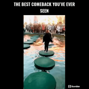 Funny, Memes, and Videos: THE BEST COMEBACK YOU'VE EVER  SEEN  SStumbler RT @StumblerFunny: For more funny videos follow @StumblerFunny or visit https://t.co/wXxwph26cH https://t.co/pxA22IVDLL