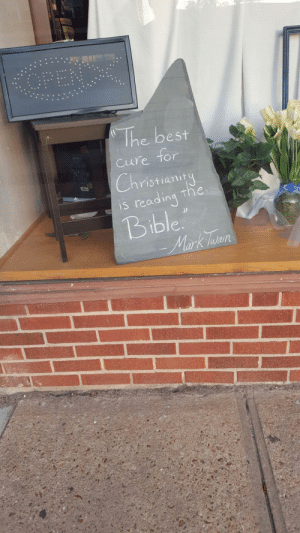Tumblr, Best, and Bible: The best  Cure Tor  ristiamit  S readin  Bible. memehumor:  Local Christian bookstore doesn't get it