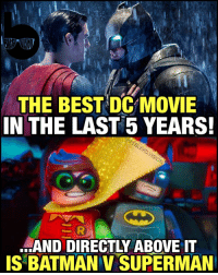 My three word review for the LegoBatman movie: Everything was Awesome. 🙌🏾 I went in expecting a serviceable LegoMovie spinoff and got the most sincere love letter to Batman and DC fans since TheDarkKnight! 😱 Not since the original ScaryMovie have I seen a genre satire done this well! -- Not only is it a non-stop, high-octane, self-referential and hilarious rollercoaster ride of a movie - but it NAILS the poignant and emotional character beats every time the action slows down. This movie understands the core of Batman's character and delivers an emotional payoff at the end that is *so* satisfying for his personal arc... One that's been explored in the comics but never really in the movies until now. ( BatmanandRobin doesn't count...😂) I loved every minute of it and if you're a Batman fan you OWE it to yourself to see it. What did you guys think?: THE BEST DC MOVIE  IN THE LAST 5 YEARS!  SAND DIRECTLY ABOVE IT  IS BATMAN v SUPERMAN My three word review for the LegoBatman movie: Everything was Awesome. 🙌🏾 I went in expecting a serviceable LegoMovie spinoff and got the most sincere love letter to Batman and DC fans since TheDarkKnight! 😱 Not since the original ScaryMovie have I seen a genre satire done this well! -- Not only is it a non-stop, high-octane, self-referential and hilarious rollercoaster ride of a movie - but it NAILS the poignant and emotional character beats every time the action slows down. This movie understands the core of Batman's character and delivers an emotional payoff at the end that is *so* satisfying for his personal arc... One that's been explored in the comics but never really in the movies until now. ( BatmanandRobin doesn't count...😂) I loved every minute of it and if you're a Batman fan you OWE it to yourself to see it. What did you guys think?