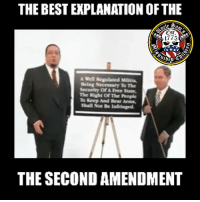 Memes, Bear, and Best: THE BEST EKPLANATION OF THE  ^St  1775  A Well Regulated M  Being Necessary To The  Security Of A Free State,  The Right Of The People  To Keep And Bear Arms  Shall Not Be lnfringed  THE SECOND AMENDMENT It's my human right