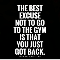 gym people followers follower f4f beast beastmode workout meme memes fitness fitnessmotivation fitnessmodel: THE BEST  EXCUSE  NOT TO GO  TO THE GYM  IS THAT  YOU JUST  GOT BACK.  Picture Quotes.com gym people followers follower f4f beast beastmode workout meme memes fitness fitnessmotivation fitnessmodel