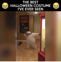 """Ghostbust a move. Not the """"best costume"""" ever, but guy has skills.: THE BEST  HALLOWEEN COSTUME  I'VE EVER SEEN Ghostbust a move. Not the """"best costume"""" ever, but guy has skills."""