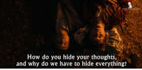 - Swiss Army Man 2016: THE BEST  How do you hide your thoughts,  and why do we have to hide everything? - Swiss Army Man 2016