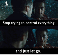 Memes, 🤖, and Fighting: THE BEST MOVIE LINES  Stop trying to control everything  and just let go. - Fight Club (1999)