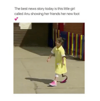 Children, Friends, and Love: The best news story today is this little girl  called Anu showing her friends her new foot 😍😍😍 children are sooo innocent and pure I love kids 😍😍😍😍 Comment below Tag a Friend Spam @teengirlsquaad_ with likes . . . . . . . . . . . . . . . makeup makeupaddict makeupjunkie 💄 makeupartist makeupforever makeupgeek makeupmafia eyebrowsonfleek eyebrows eyebrowsdid ootd wavyhair