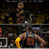 Your weekly reminder that LeBron James is the best player in basketball. NBAMemes: The Best Player In The NBA  23  @PERSOURCES  JAMES  23  The Be s t Two Tay Player  In The NBA Your weekly reminder that LeBron James is the best player in basketball. NBAMemes