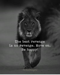 Revenge, Best, and Happy: The best revenge  is no revenge. Move on.  Be happy!  quotesgate