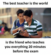 tag someone Check out all of my prior posts⤵🔝 Positiveresult positive positivequotes positivity life motivation motivational friend lovequotes relationship lover hug heart quotes positivequote positivevibes study soulmate girl boy friendship dream work inspire inspiration partner women man: The best teacher is the world  is the friend who teaches  you everything 20 minutes  before the exam tag someone Check out all of my prior posts⤵🔝 Positiveresult positive positivequotes positivity life motivation motivational friend lovequotes relationship lover hug heart quotes positivequote positivevibes study soulmate girl boy friendship dream work inspire inspiration partner women man