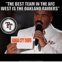 """""""THE BEST TEAM IN THE AFC  WEST IS THE OAKLAND RAIDERS  NFL  H TALK  KANSAS CTY CHIEFS  DOWNLOAD MEME GENERATOR FROM HTTP IIMEMECRUNCH COM 😂😂😂 #MasterChief29"""