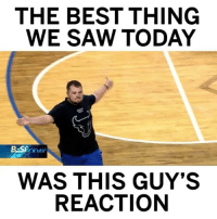 Dude was lit after hitting this shot to win 12 free pizzas! 🏀🍕😂 @SportsCenter WSHH: THE BEST THING  WE SAW TODAY  ODAV  WAS THIS GUY'S  REACTION Dude was lit after hitting this shot to win 12 free pizzas! 🏀🍕😂 @SportsCenter WSHH
