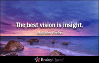 Memes, Vision, and Best: The best vision is insight.  Malcolm Forbes  Brainy  Quote The best vision is insight. - Malcolm Forbes https://www.brainyquote.com/quotes/quotes/m/malcolmfor151535.html #brainyquote #QOTD #insight #sunset