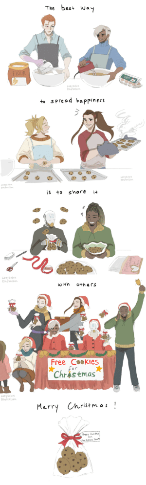 ethereallion:  Overwatch (Support) Christmas ComicMerry Christmas everybody!Happy holidays :D: The best way  eggs  F LOUR  Lazysobin  Ethereallion   to spread happiness  Lazysabin  Ethereallion   Lazysabin  Ethereallion  is to  it  share  PLastic   Ethereallion  uigoshzof  with  Oth ers  Free Cookies  for  Chrástmas   Lazysabin  Ethereallion  Merry Christmas!  Happy Holidays  from  The Support Team ethereallion:  Overwatch (Support) Christmas ComicMerry Christmas everybody!Happy holidays :D