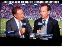 Memes, Mute, and Best: THE BEST WAY TO WATCH CRISCOLLINSWORTH  19R  Mute  CRIS COLLINSWORTH  OSNFon