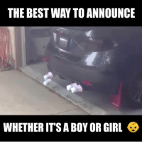 Cars, Girls, and Videos: THE BESTWAY TO ANNOUNCE  WHETHER ITS A BOY OR GIRL Video submitted by Jimbo Slice Patrick!