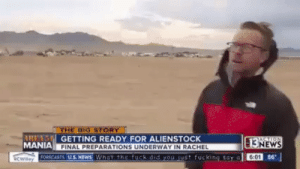 Mania: THE BIG STORY  RENS GETTING READY FOR ALIENSTOCK  MANIA FINAL PREPARATIONS UNDERWAY IN RACHEL  cwiey ORCASTS US.NEWS What the fuck did you just fucking say a  ASTION  13NEWS  6:01 86