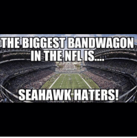 GoHawks: THE BIGGEST BANDWAGON  IN THE NFL  IS  SEAHAWK HATERS! GoHawks