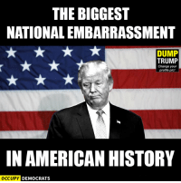 Memes, American, and History: THE BIGGEST  NATIONALEMBARRASSMENT  DUMP  TRUMP  Change your  profile pic!  IN AMERICAN HISTORY  OCCUPY DEMOCRATS Truth.  Image by Occupy Democrats, LIKE our page for more!