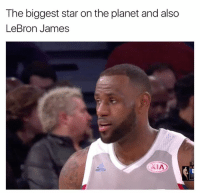 LeBron James, Lebron, and Star: The biggest star onthe planet and also  LeBron James  XIA 🤔🤔🤔